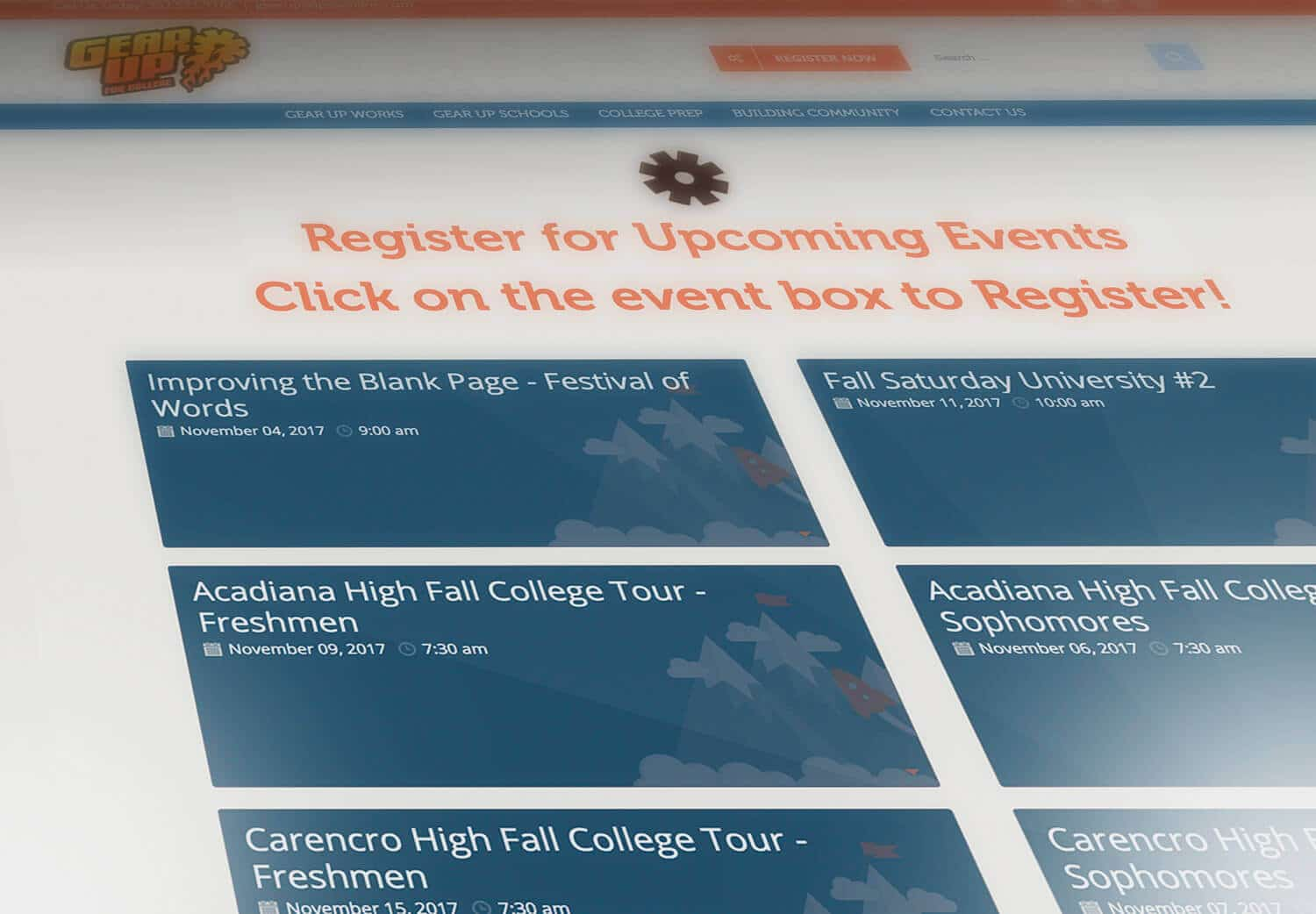 Gear Up Register for Events